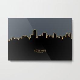 Adelaide Australia Skyline Metal Print