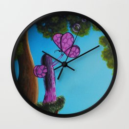 Dairy Fairy whimsical artwork  Wall Clock