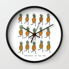 pineapples on the run Wall Clock