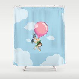 Don't Swallow Your Bubble Gum Shower Curtain