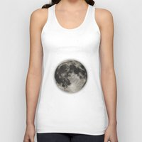 type Tank Tops featuring The Moon  [Sans Type] by Heather Landis
