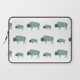 Bison And Baby (Moss) Laptop Sleeve