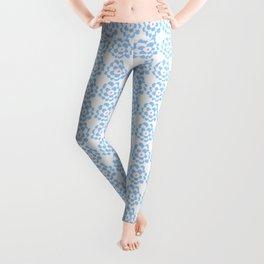 blue flower-flower,bloom,blossom,nature,funny,plants,nature,visage,face Leggings