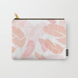 Pink Banana Leaves Carry-All Pouch