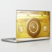volkswagon Laptop & iPad Skins featuring Retro VW by ShadeTree Photography