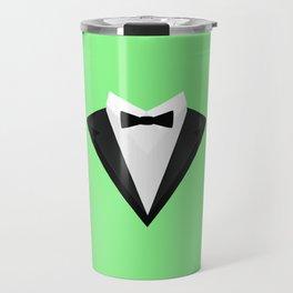 Black Tuxedo Suit with bow tie T-Shirt D946n Travel Mug