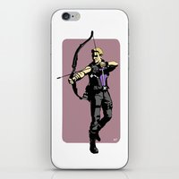 clint barton iPhone & iPod Skins featuring Clint by Shop 5