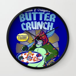 Adam and cringer's Butter Crunch Cereals Wall Clock