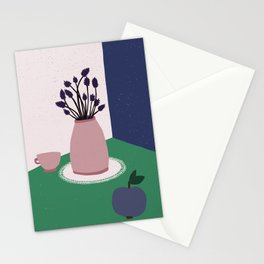 Still Life with Apple, Lavender Flowers and Cup Stationery Cards