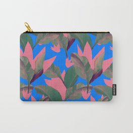 Retro Luxe Lilies Electric Blue Pattern Carry-All Pouch