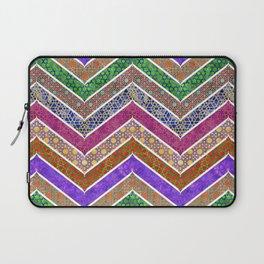 Moroccan Watercolor Lattice Chevrons Pattern Laptop Sleeve