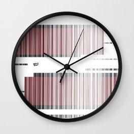 Red Abstract Interrupted #holidays #seasons #festive #design #kirovair #minimalism Wall Clock
