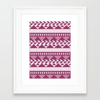 bands Framed Art Prints featuring Tribal Bands by stephaniemichalko