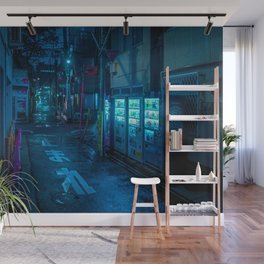 Midnight in Tokyo Light up by Vending Machine Wall Mural