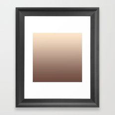 RoseGold Stripes Framed Art Print