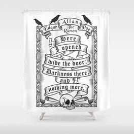 Edgar Allen Poe - The Raven Shower Curtain