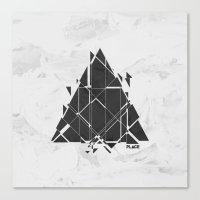 deadmau5 Canvas Prints featuring PLACE Triangle V2 by Sitchko Igor