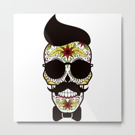 Mr. Sugar Skull Metal Print