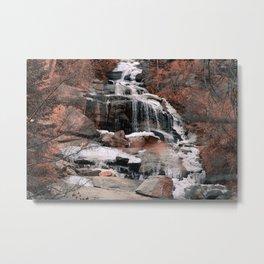 Go To The Waterfall Metal Print