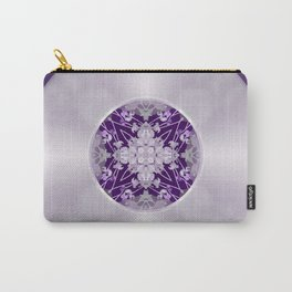 Vinyl Record Illusion in Purple Carry-All Pouch