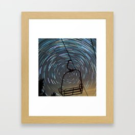 Chair Lift Spiral Framed Art Print