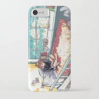 bed iPhone & iPod Cases featuring Bed. by Lucy Roslyn