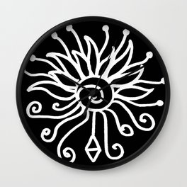 zakiaz white marker design Wall Clock