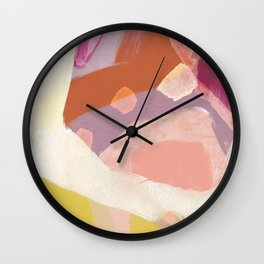 Ablaze Abstract Painting Wall Clock