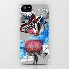 Butterfly I by carographic, Carolyn Mielke iPhone Case