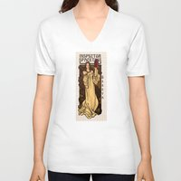theatre V-neck T-shirts featuring Theatre in Spacetime by Karen Hallion Illustrations