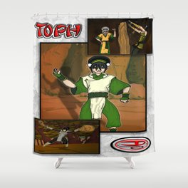 study of Toph Shower Curtain
