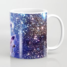 purple blue Eagle Nebula Coffee Mug