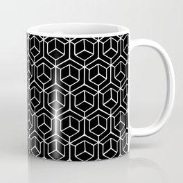 Hand Drawn Hypercube Black Coffee Mug