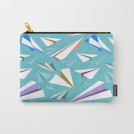 Aeroplanes - Paper Airplanes Pattern Carry-All Pouch