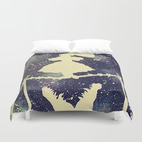 haunted mansion Duvet Covers featuring Haunted by Kayleigh Kirkpatrick