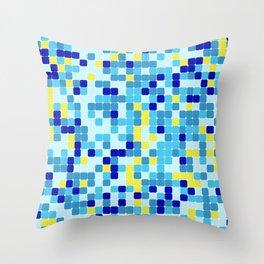 Random colorful squares background Throw Pillow