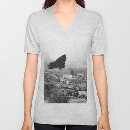 Old time Godzilla vs King Kong Reprised Unisex V-Neck