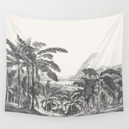 Palms and Mountain Wall Tapestry