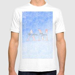 Andrea Mora Interior Sky Blue Passion Designer Custom Home Decorations Print Capsule # T-shirt