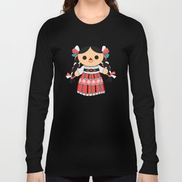 Maria 4 (Mexican Doll) Long Sleeve T-shirt