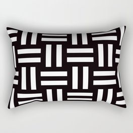 Geometric Pattern #35 (rail fence) Rectangular Pillow