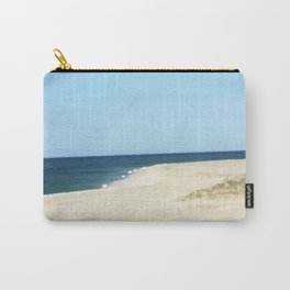Minimalist Sand, Sea, and Sky Carry-All Pouch