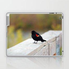 Red Winged Blackbird Laptop & iPad Skin