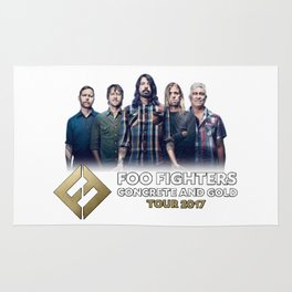 Foo Fighte Concrete and Gold Tour 2017 Rug