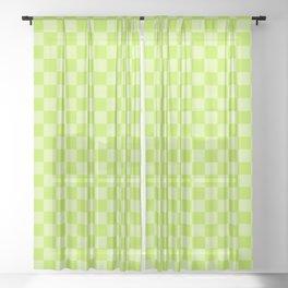 Citrus Checkerboard Sheer Curtain