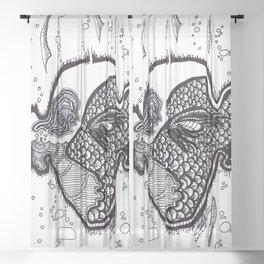 Sub Mariner Fish Face Sheer Curtain