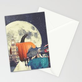 Clock Strikes Midnight in London Stationery Cards