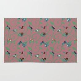 Pink Bug Swirl Rug