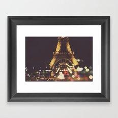 La Ville-Lumière Framed Art Print
