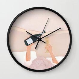 Morning Wine Wall Clock